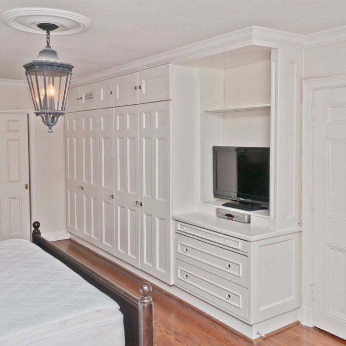 Solid Wood Cherry Bedroom TV Cabinet Wardrobe