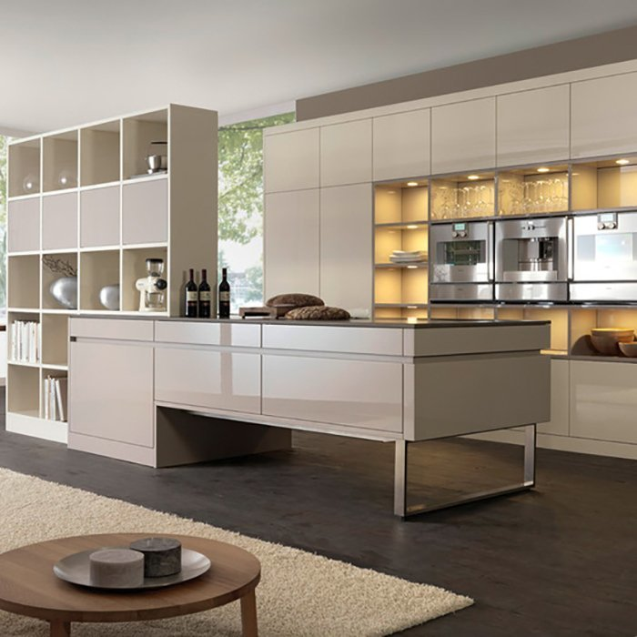 High End Modern Lacquer Kitchen Cabinets