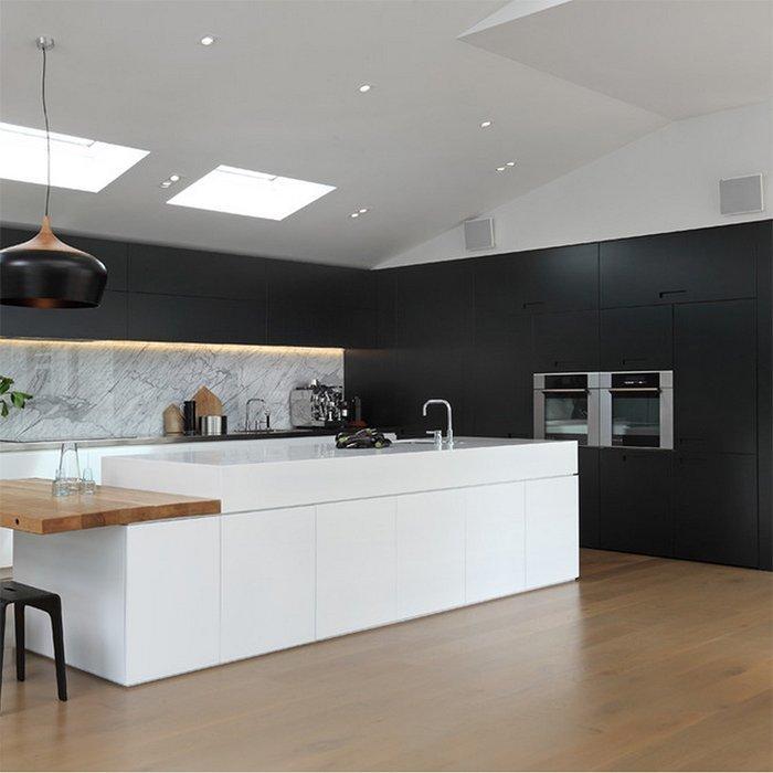 Black PVC Modern Design Kitchen Cabinet
