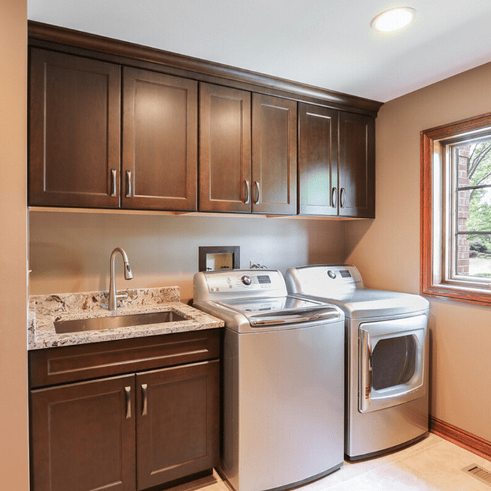 Solid Wood Laundry Room Cabinets