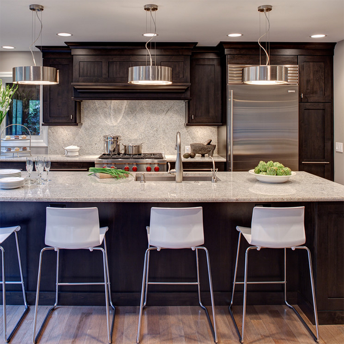 Top Quality Solid Wood Black Kitchen Cabinets